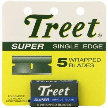 4 Pack - Treet Super Single Edge Blades 5 ea