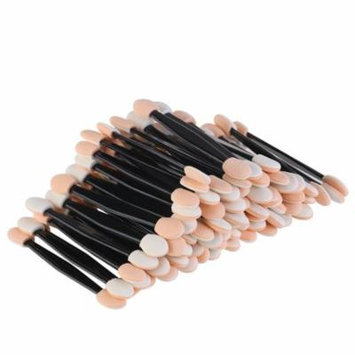 Disposable Dual Sided Eyeshadow Brush Sponge Tipped Oval Makeup Applicator (Black), 100pcs Pack