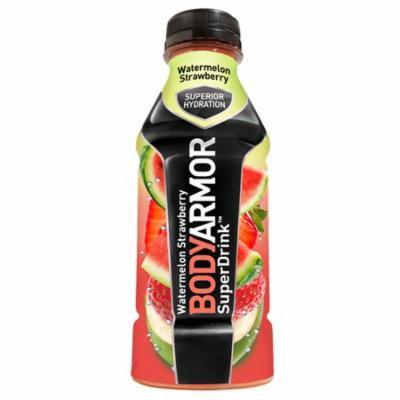 Body Armor Watermelon Strawberry Sports Drink 16 oz Plastic Bottles - Pack of 12