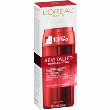 2 Pack - L'Oreal Revitalift Double Lifting Face Treatment, Anti Wrinkle Cream & Lifting Gel 1 oz