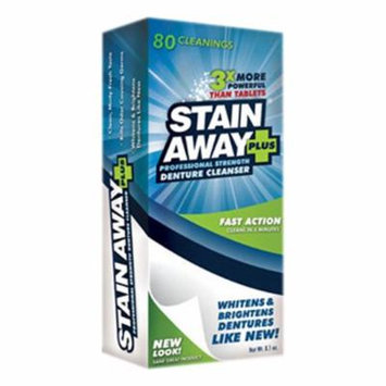 Stainaway Plus Professional Strength Denture Cleanser Powder - 8.1 Oz, 2 Pack