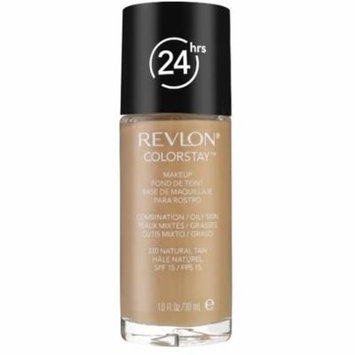 6 Pack - Revlon Colorstay for Combo/Oily Skin Makeup, Natural Tan [330] 1 oz