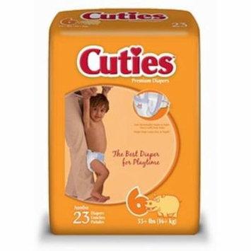 4 Pack - Cuties Premium Diapers Size 6 23 Each [4 packs per case]