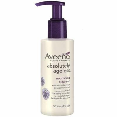 4 Pack - AVEENO Active Naturals Absolutely Ageless Nourishing Cleanser, Blackberry 5.2 oz