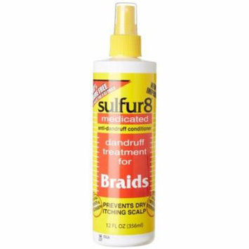 2 Pack - Sulfur8 Medicated Anti-Dandruff Conditioner for Braids, Spray 8 oz