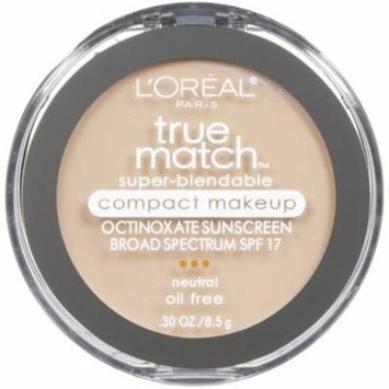 2 Pack - L'Oreal True Match Super-Blendable Compact Makeup, Soft Ivory, 30 oz