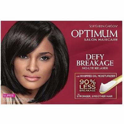 4 Pack - Optimum Care Salon Collection Anti-Breakage No-Lye Relaxer System, Super 1 kit