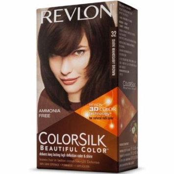 6 Pack - Revlon ColorSilk Hair Color [32] Dark Mahogany Brown 1 ea