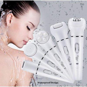 5-in-1 Electric Callus Remover Pedicure Buffer, Lady Shaver, Epilator, Facial Cleansing Brush & Face Massage - Wet & Dry
