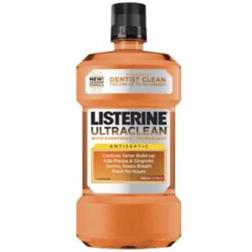 2 Pack - Listerine Ultraclean Antiseptic Fresh Citrus 1500 mL