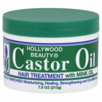 6 Pack - Hollywood Beauty Castor Oil Hair Treatment, with Mink Oil 7.5 oz