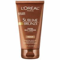 3 Pack - L'Oreal SUBLIME BRONZE Tinted Self-Tanning Lotion Medium Natural Tan 5 oz
