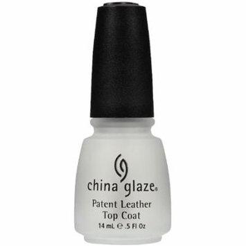 6 Pack - China Glaze Patent Leather Top Coat Nail Polish 0.50 oz