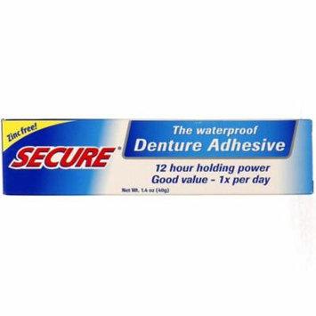 6 Pack - Secure Denture Waterproof Adhesive 1.40 oz