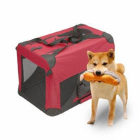 Magshion Portable Crates Kennels Fabric Transport With Sturdy Metal Frame Metal Cages 28'' Burgundy
