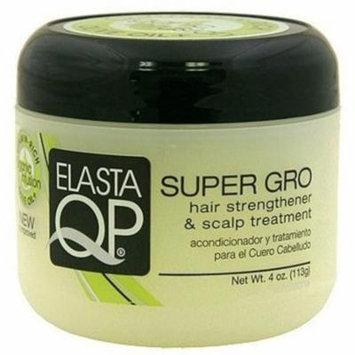 6 Pack - Elasta QP Super Gro Hair Strengthener & Scalp Treatment, 4 oz