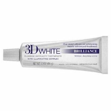 Crest 3D White Mesmerizing Mint Toothpaste, Brilliance - 4.1 Oz, 6 Pack