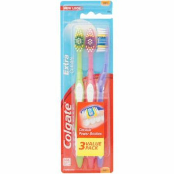 3 Pack - Colgate Extra Clean Toothbrushes, Full Head, Soft 3 ea