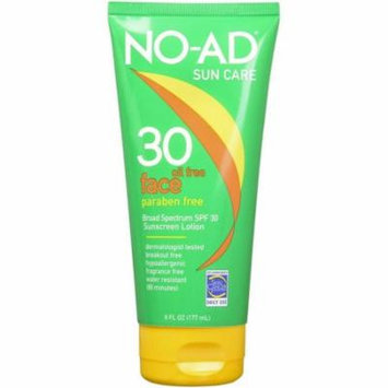 2 Pack - NO-AD Oil-Free Face Lotion SPF 30 6 oz