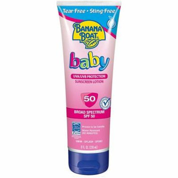 2 Pack - Banana Boat Baby Sunscreen Lotion SPF 50 8 oz