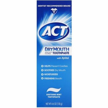4 Pack - Act Dry Mouth Anticavity Fluoride Toothpaste, 4.6 oz