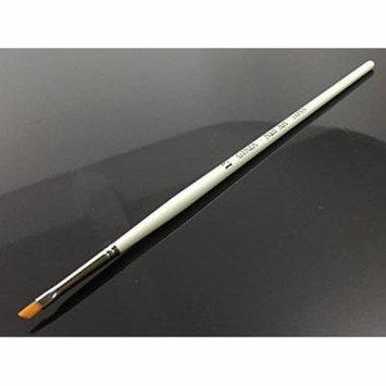 Ginza Angular Nail Art Brush with White Wooden Handle - H13