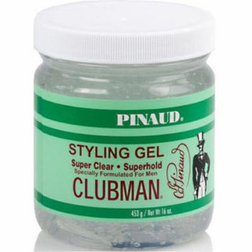 6 Pack - Clubman Pinaud Super Clear Styling Gel Super Hold, 16 oz