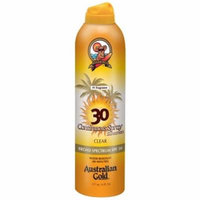 4 Pack - Australian Gold Gold Continuous Spray, SPF 30, Clear 6 oz