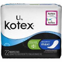 U by Kotex Maxi Pads, Long, Super Unscented 22 ea