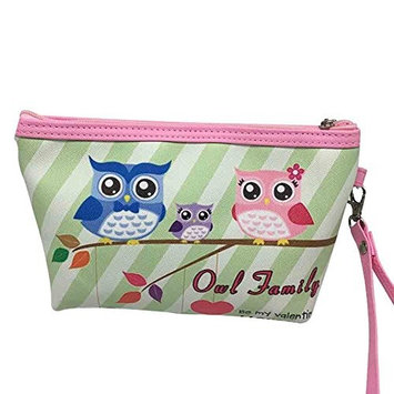 Sweet Couple Owl Print Cosmetic Bag Wristlet Travel Toiletry Bag Love gift(6 patterns)