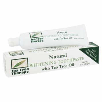 Tea Tree Therapy Whitening Toothpaste, With Tea Tree Oil - 3 Oz, 2 Pack