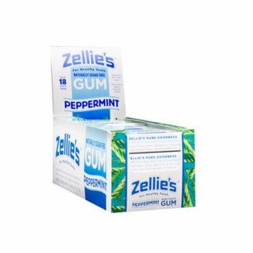 Zellie's Peppermint Xylitol Gum Blister Pack 12 pk Case