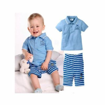 StylesILove Baby Boy Paper Boat Pirates Polo T-shirt and Pants 2-piece (2-3 Years)