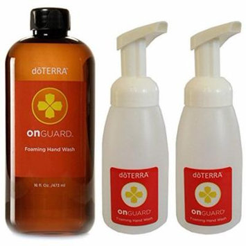 doTERRA On Guard Foaming Hand Wash (16 oz) with 2 Dispensers