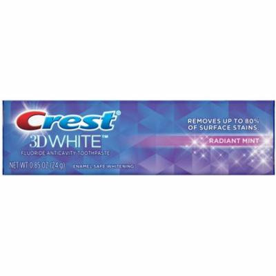 6 Pack - Crest 3D White Vivid Fluoride Anticavity Toothpaste, Radiant Mint 0.85 oz