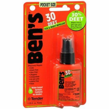6 Pack - Ben's 30 DEET Tick and Insect Repellent Pocket Size 1.25 oz