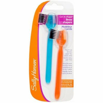 6 Pack - Sally Hansen Get in Shape Brow Shapers with Brush & Comb 2 ea