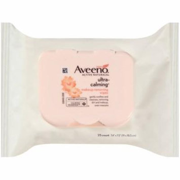 3 Pack - AVEENO Active Naturals Ultra-Calming Makeup Removing Wipes 25 ea