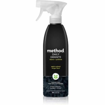 6 Pack - Method Daily Granite Clean + Polish Spray, Apple Orchard 12 oz