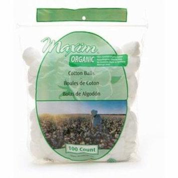 4 Pack - Maxim Hygiene Products Organic Cotton Balls, Jumbo Size 100 ea