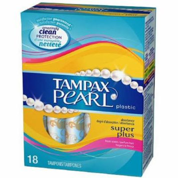 3 Pack - Tampax Pearl Tampons With Plastic Applicators, Super Plus Absorbency 18 ea