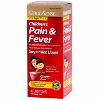 3 Pack - Good Sense Acetaminophen Children's Pain Reliever Oral Suspension Liquid, Cherry, 160 mg 4 oz