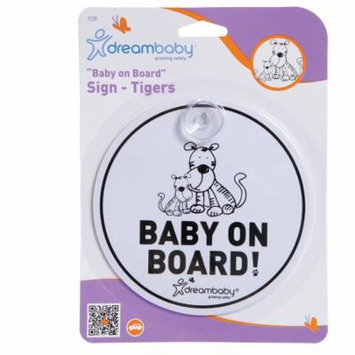 Dreambaby Baby On Board Sign w/ Tigers