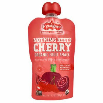 Fruigees Organic Fruit Snack Squeeze Pack Nothing Beets Cherry -- 3.5 oz pack of 4