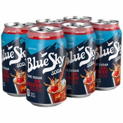 Blue Sky® Cane Sugar Dr. Becker Soda 6-12 fl. oz. Cans