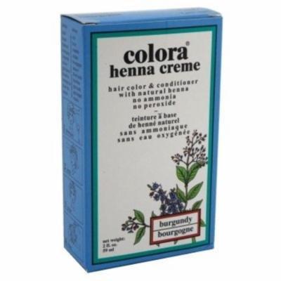 6 Pack - Colora Henna Creme Hair Color Burgundy, 2 oz