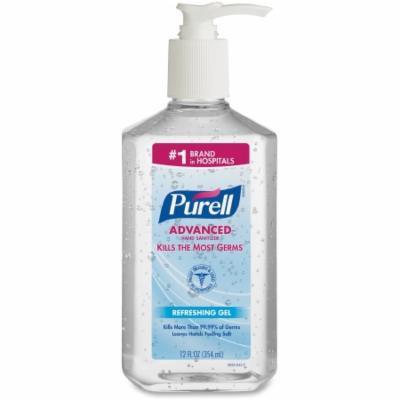 Purell Advanced Hand Sanitizer 12 oz. Alcohol (Ethyl) Gel Pump Bottle - 8 Pack