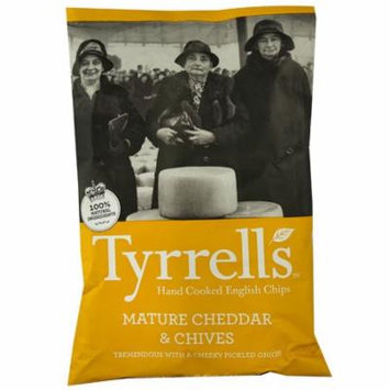 Tyrrell's Hand Cooked English Chips Mature Cheddar & Chives -- 5.3 oz pack of 4