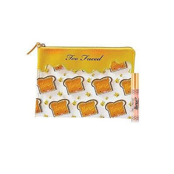 TOO FACED Peanut Butter & Honey Cosmetic Bag & Full-Size Honey Infused Lip Gloss