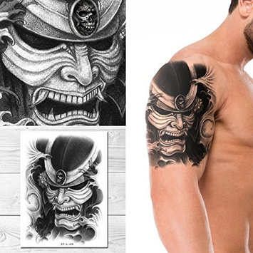Supperb Temporary Tattoos - Skull Warrior Temporary Tattoo